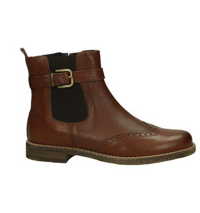 Hampton Bays Cognac Chelsea Boots met Gesp, Cognac, pdp