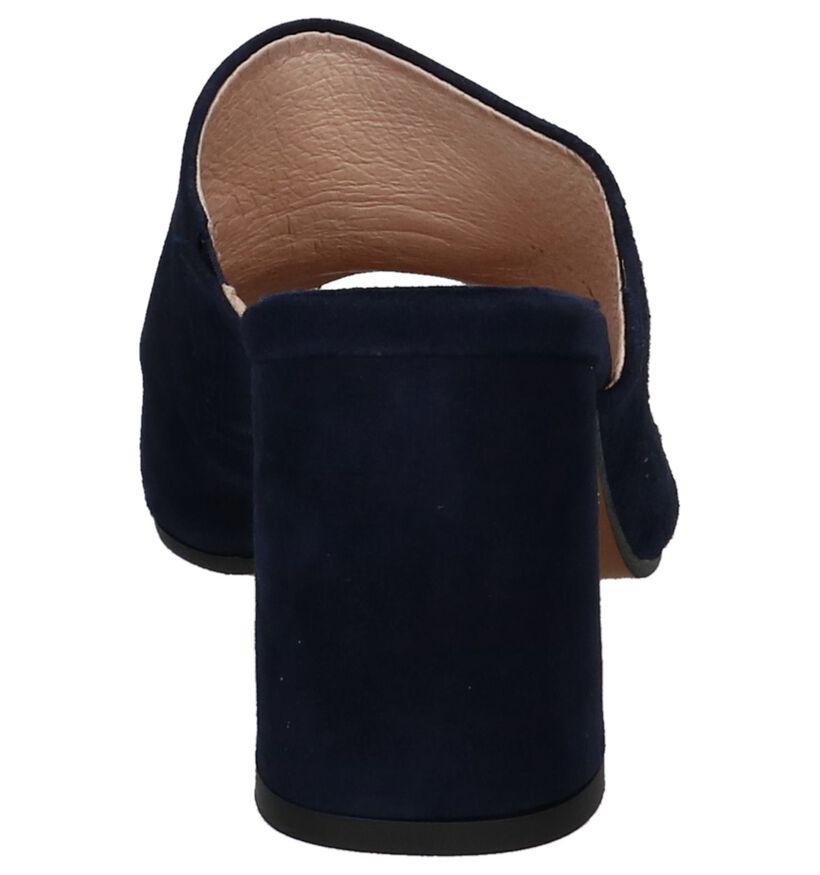 Donkerblauwe Muiltjes Humat Lidia Corazon in daim (215790)