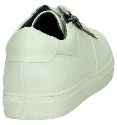 Witte Sneaker met Plateauzool Christoff, Wit, pdp