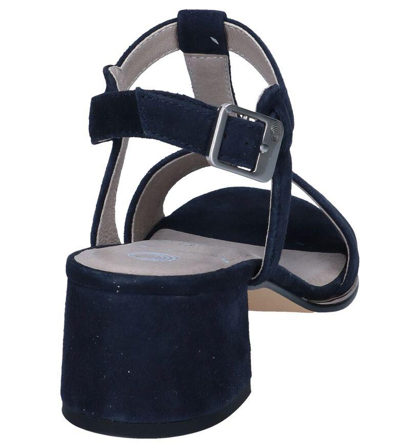 Donkerblauwe Sandalen Be Natural in nubuck (242547)
