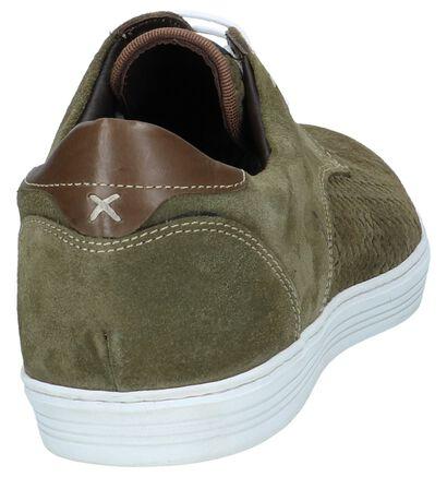 Ambiorix Chaussures basses en Vert kaki en daim (240759)