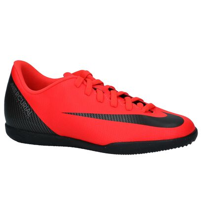 Fluo Rode Nike JR Vaporx Zaalvoelbalschoenen in stof (235579)