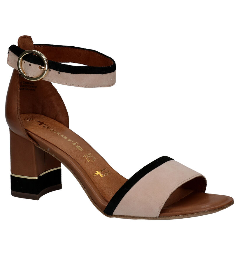 Tamaris Touch it Cognac Sandalen in leer (289430)