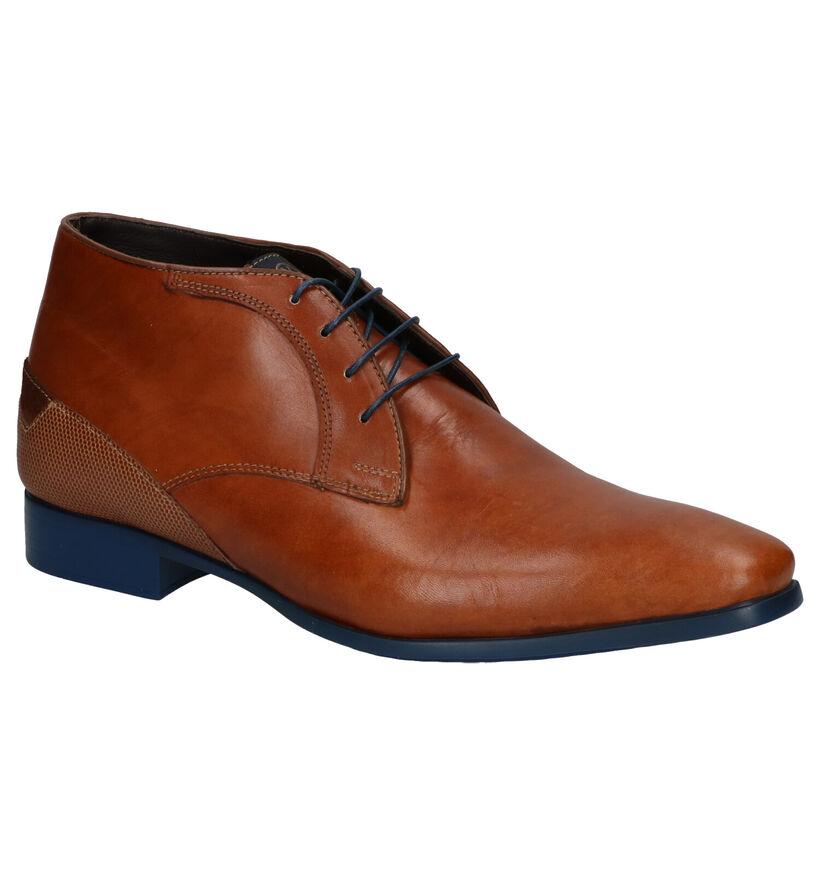 Ambiorix Dylan-B Cognac Chaussures hautes en Cognac en cuir (259364)