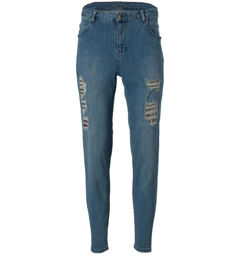 Maison Espin Blauwe Jeans Straight Leg (277960)