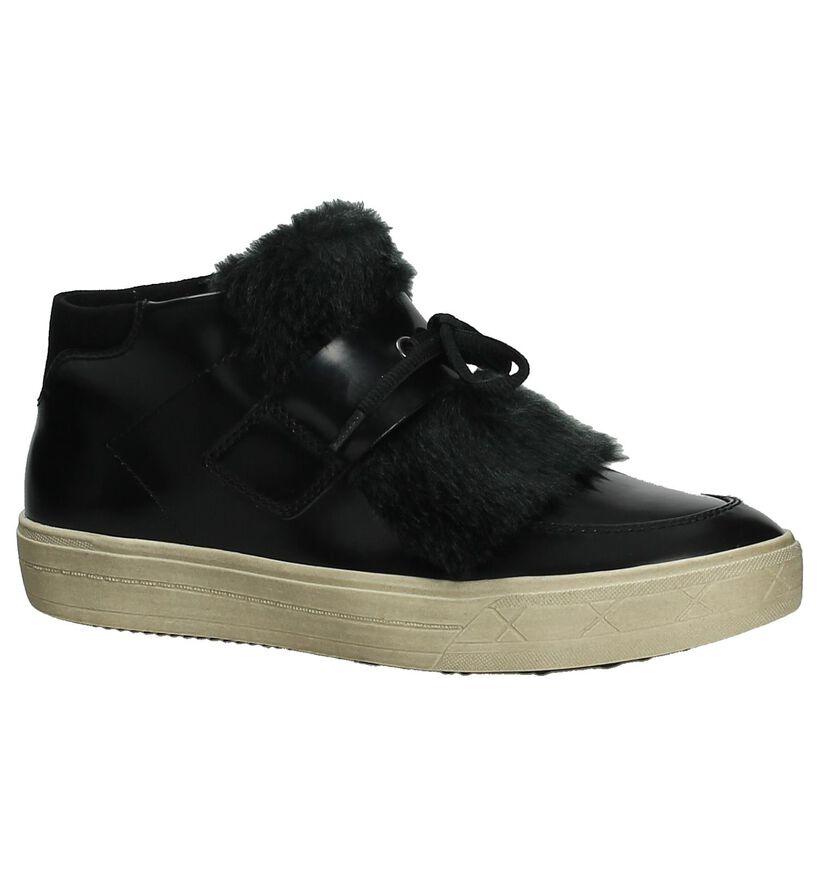 Tamaris Baskets hautes en Noir en simili cuir (203978)