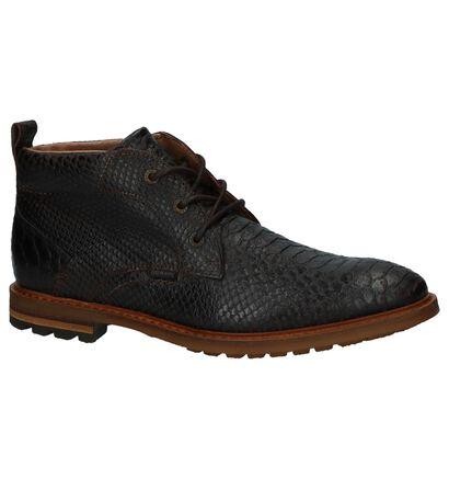 Donkerbruine Geklede Boots Scapa in leer (227401)