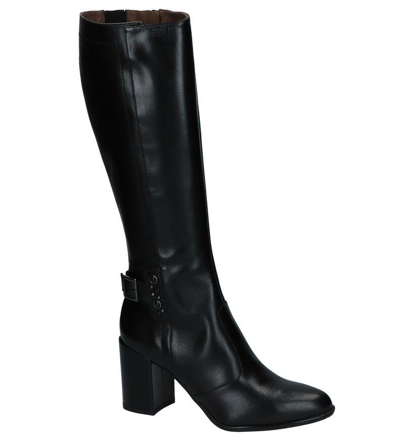 Stoere Zwarte Lange Laarzen met Steentjes NeroGiardini in leer (226500)