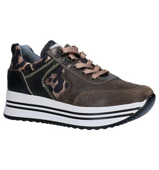 NeroGiardini Kaki/Zwarte Sneakers