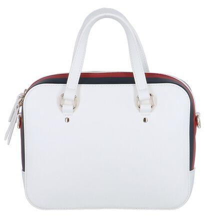 Witte Handtas Tommy Hilfiger TH Corporate Mini Trunk in kunstleer (256535)