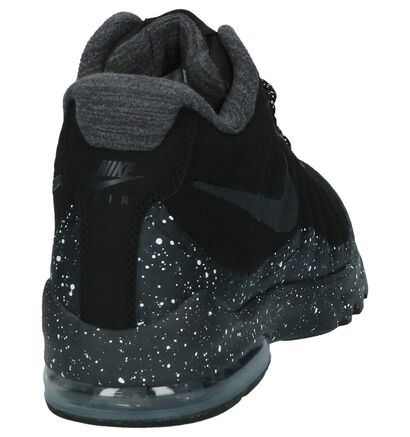 Nike Air Max Baskets basses en Noir en imitation cuir (205604)