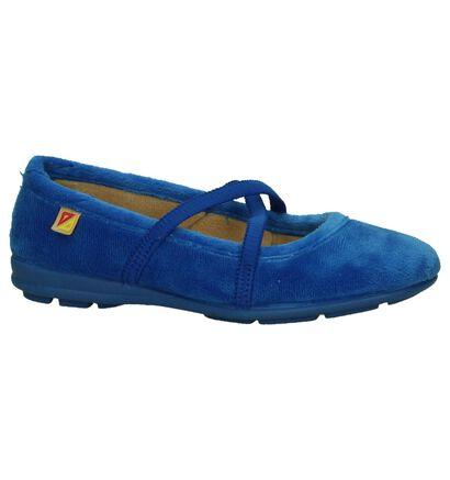 Alberola Blauwe Pantoffels in stof (206987)