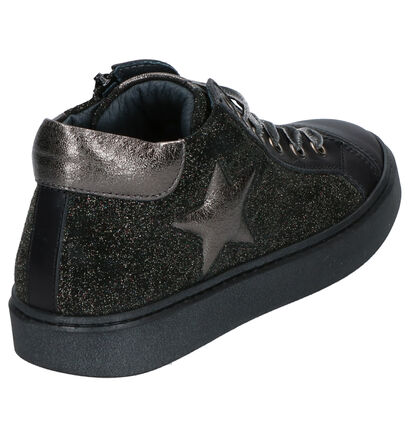 STONES and BONES Isabe Chaussures hautes en Noir en cuir (255506)