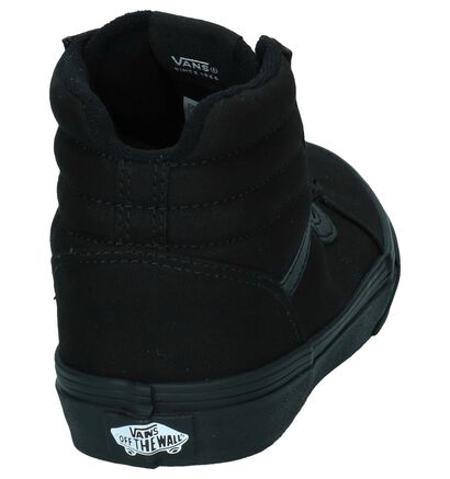 Vans Ward Hi Zwarte Skateschoenen in daim (253308)