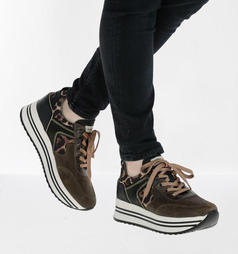 NeroGiardini Chaussures à lacets en Vert foncé en simili cuir (281741)