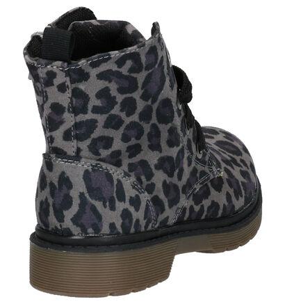 Milo & Mila Chaussures hautes en Gris foncé en textile (261132)
