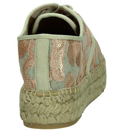 Via Roma Chaussures à lacets en Rose en textile (175875)