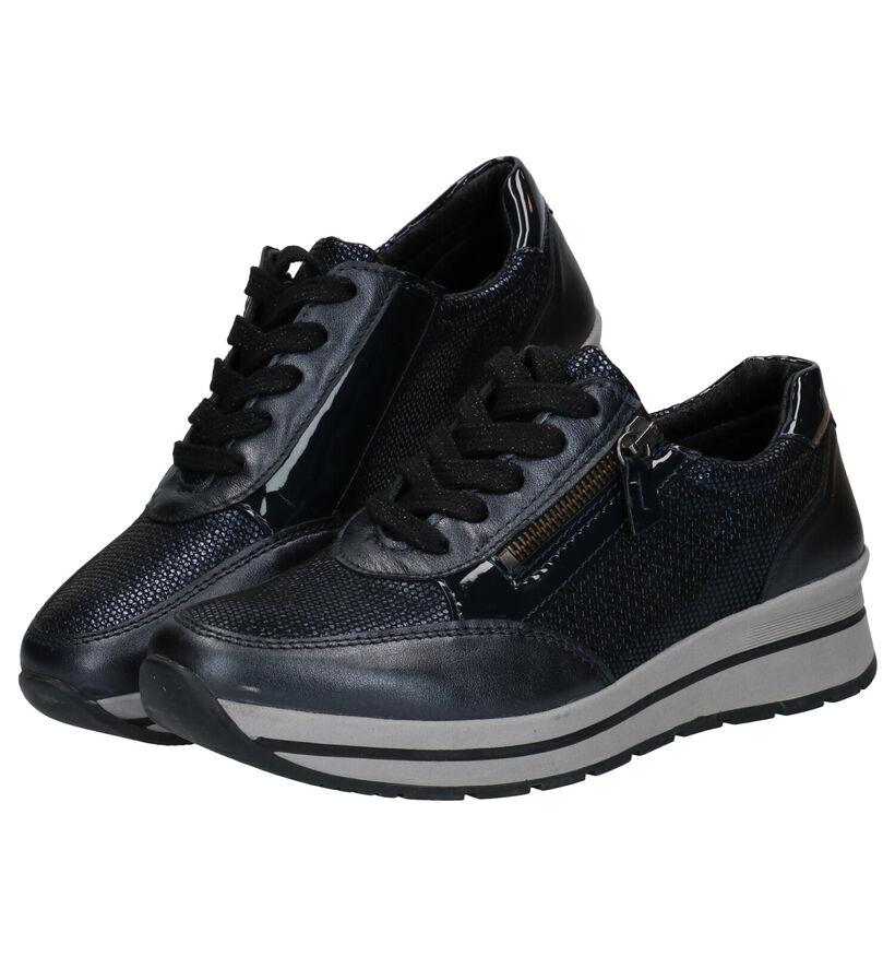 Mirel Chaussures à lacets en Bleu foncé en cuir (279848)