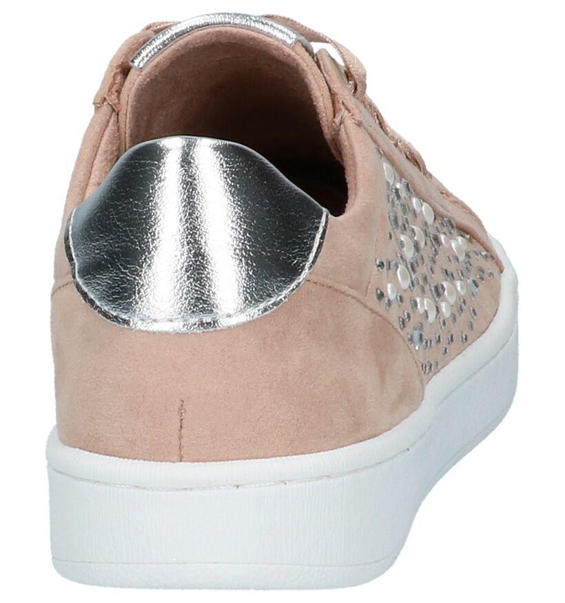 Roze Lage Geklede Sneakers Marco Tozzi in stof (214444)