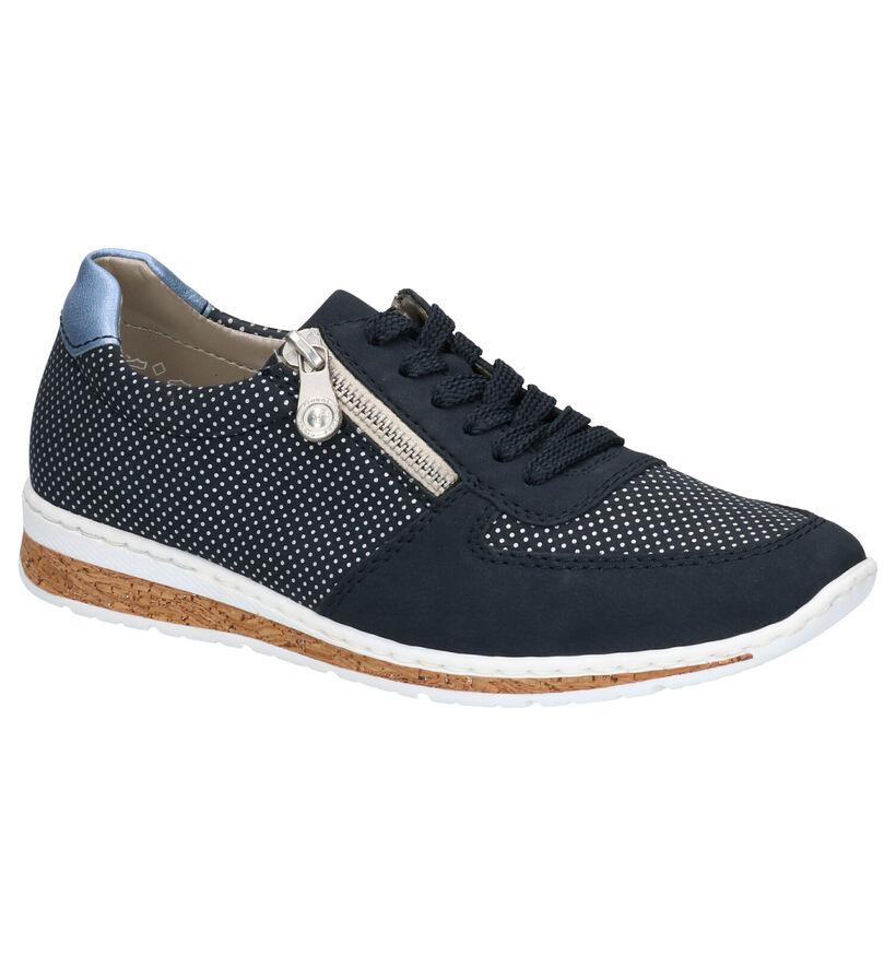 Rieker Chaussures à lacets en Bleu foncé en simili cuir (266869)