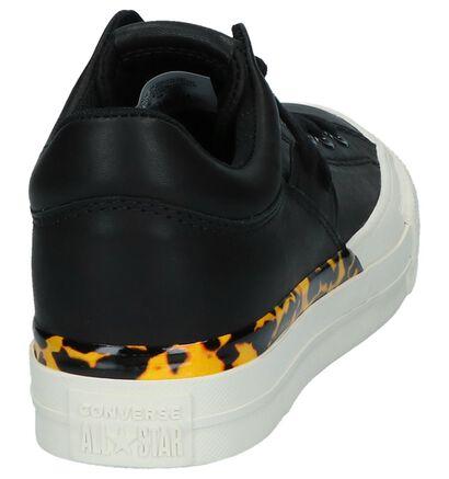Converse Chuck Taylor All Star Becca OX Zwarte Sneakers in leer (222581)