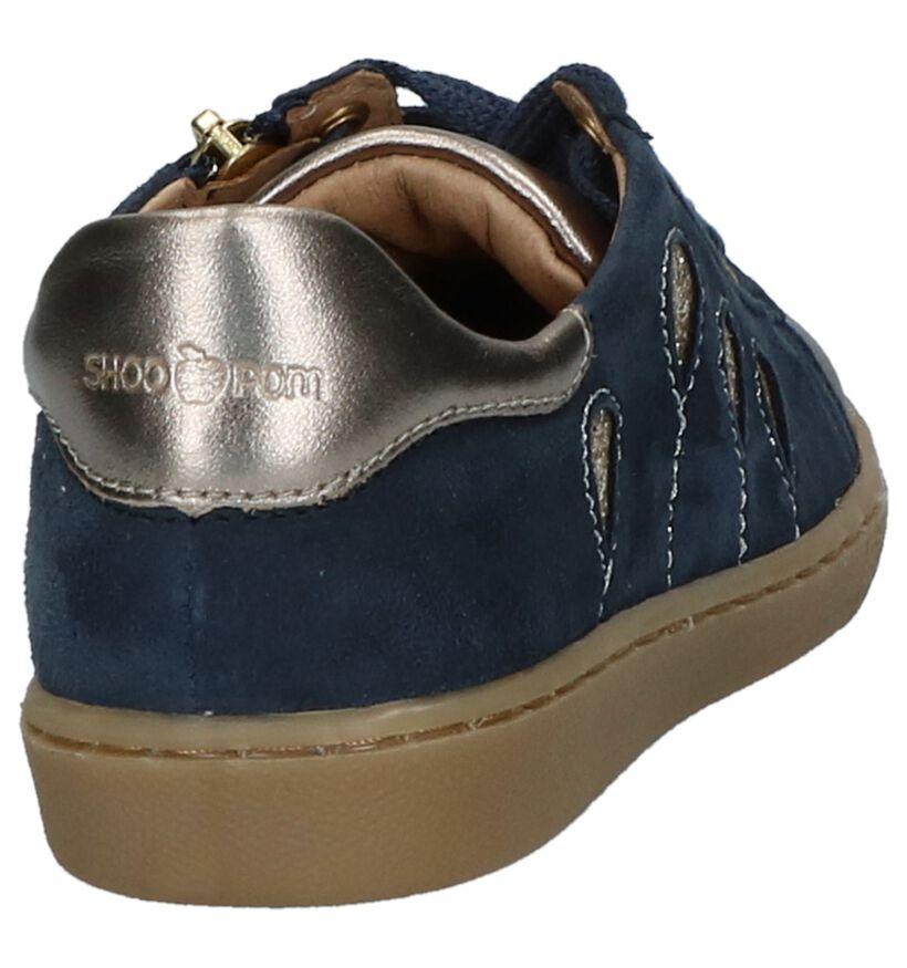 Donkerblauwe Schoenen Shoo Pom Ducky Ballon in leer (230609)