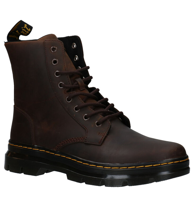 Dr. Martens Combs Leather Bruine Boots in leer (277091)