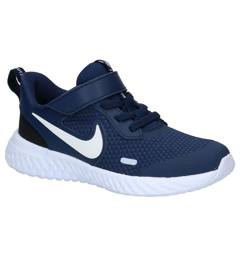 Nike Revolution Baskets en Bleu en textile (274841)