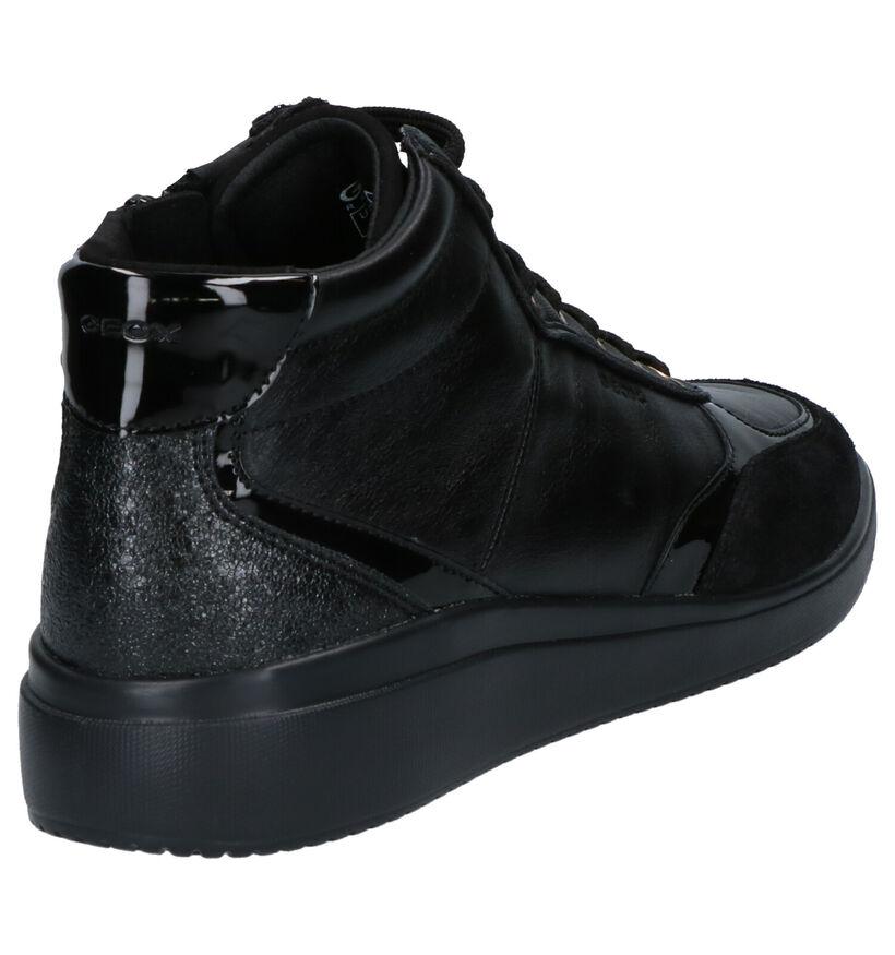 Geox Baskets hautes en Noir en cuir (253663)