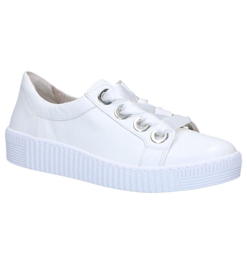 Gabor Best Fitting Chaussures à Lacets en Blanc en cuir (265853)