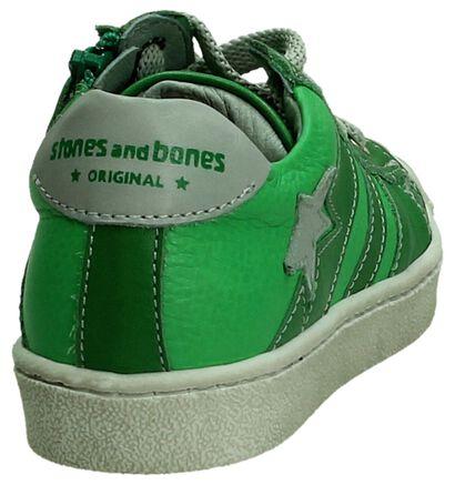 STONES and BONES Chaussures basses en Vert en cuir (190810)