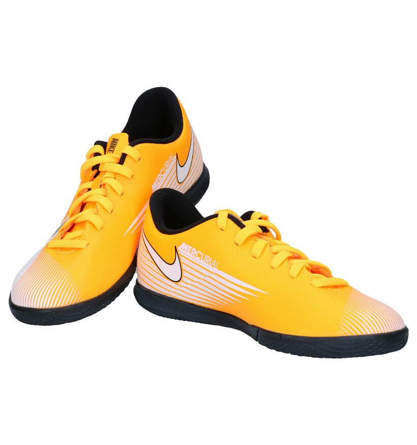 Nike JR Mercurial Baskets en Orange/Blanc en simili cuir (277502)