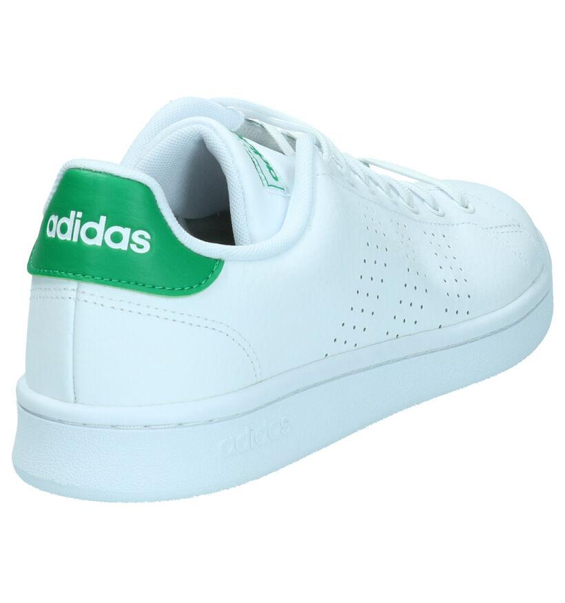 adidas Advantage Zwarte Sneakers in kunstleer (261839)