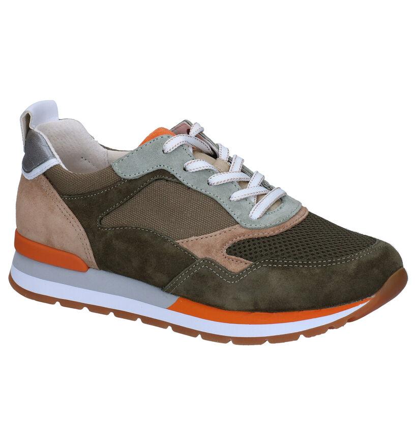 Gabor OptiFit Kaki Sneakers in daim (288015)