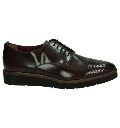Tamaris Chaussures à lacets en Bordeaux en simili cuir (180038)