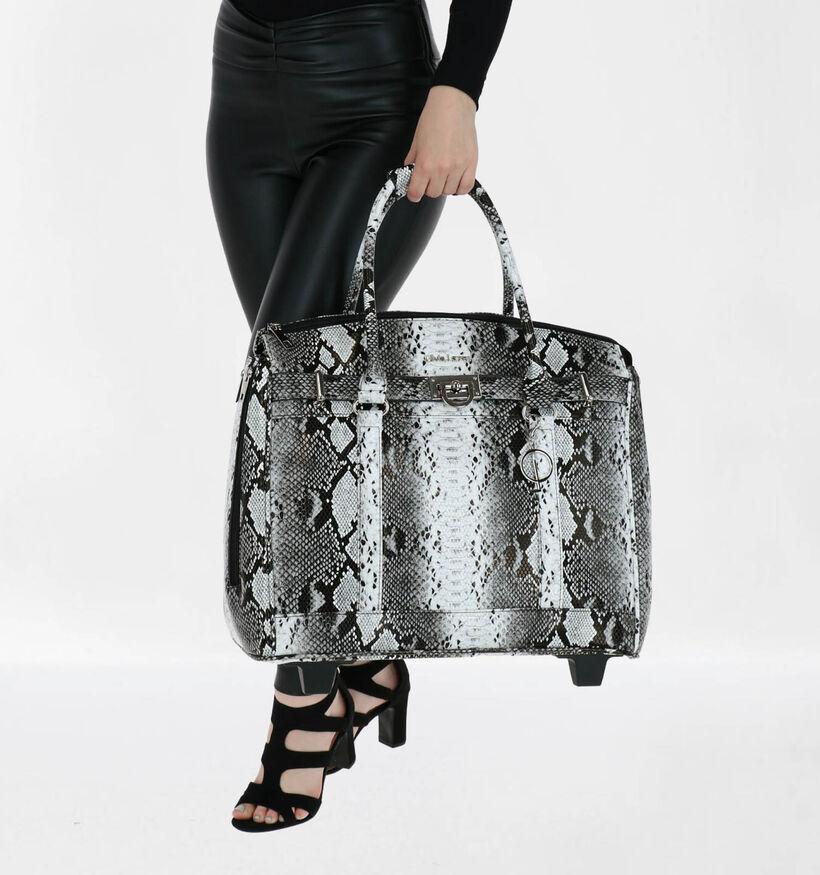 Olivia Lauren Snake Sac à roulettes en Noir en simili cuir (283517)