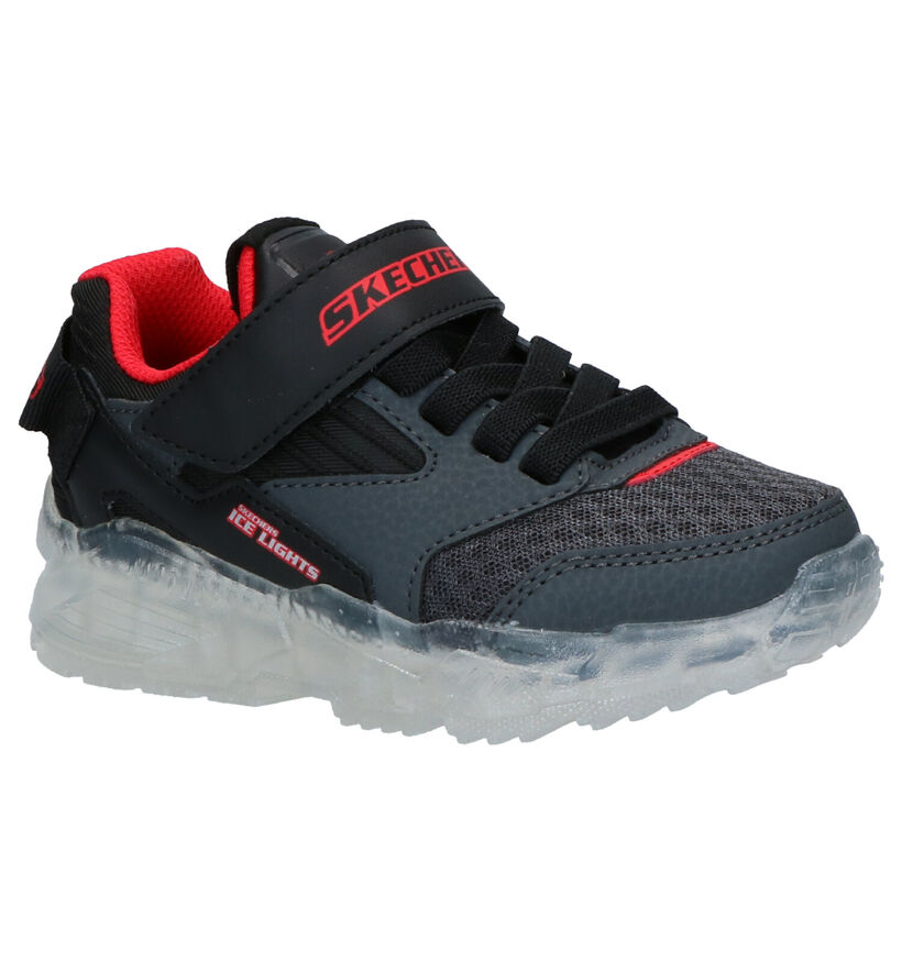 Skechers Ice Lights Baskets en Noir en simili cuir (277918)