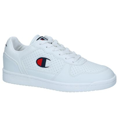 Donkerblauwe Sneakers Champion Chicago Basket Low, Wit, pdp