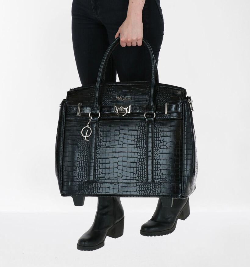 Olivia Lauren Jackson Sac à roulettes en Noir en simili cuir (283514)