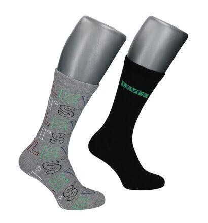Levi's Zwarte/Grijze Sokken - 2 Paar (256637)