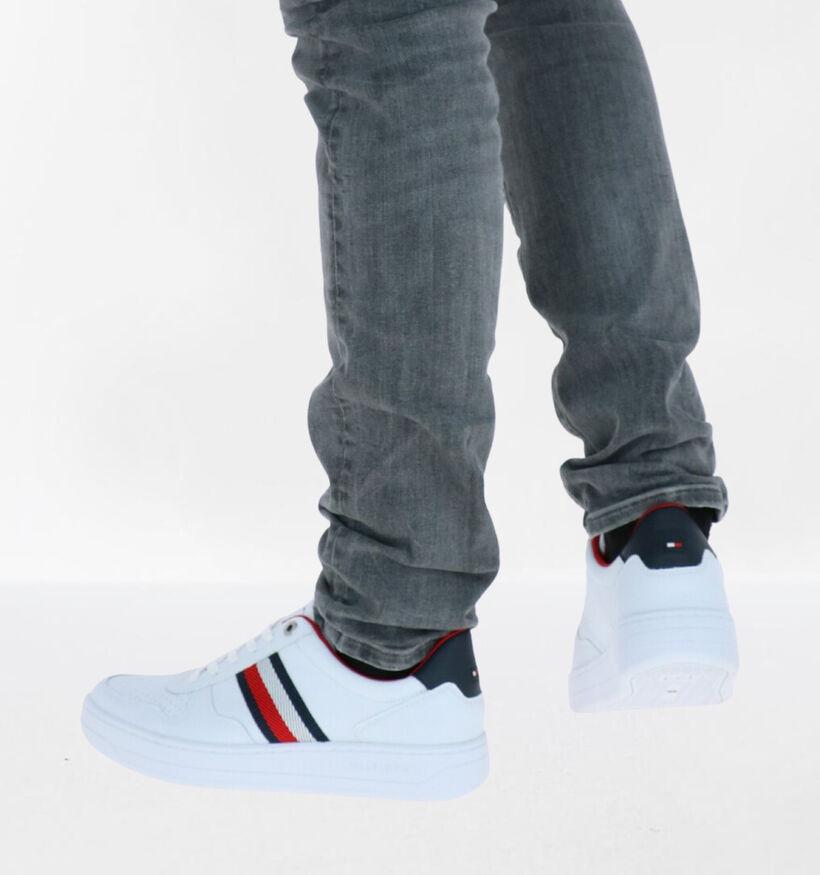 Tommy Hilfiger Basket Low Witte Sneakers in kunstleer (279962)
