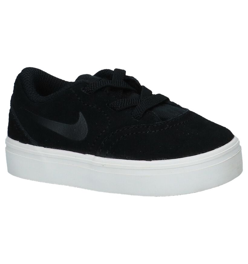 Lage Zwarte Skateschoenen Nike SB in nubuck (234419)