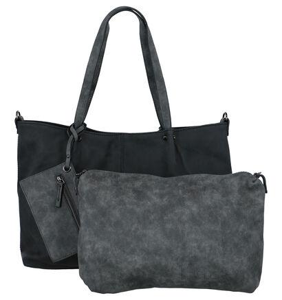 Emily & Noah Donkerblauwe Bag in Bag Shopper in kunstleer (260913)