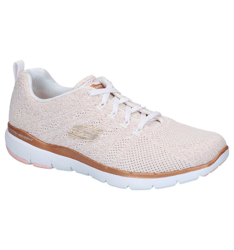 Skechers Flex Appeal Roze Sneakers in stof (286760)