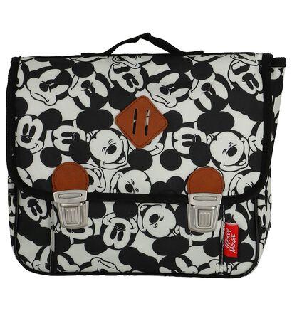 Witte Boekentas Mickey Mouse in stof (223294)