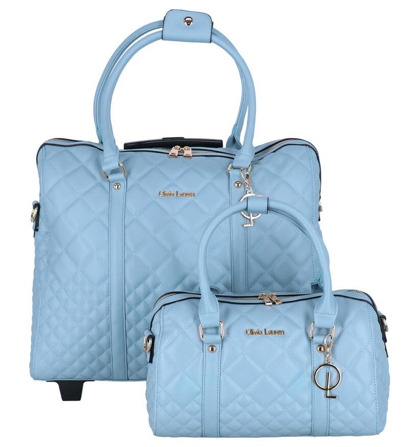 Olivia Lauren Bleu Sky Blauwe Trolley in kunstleer (301005)
