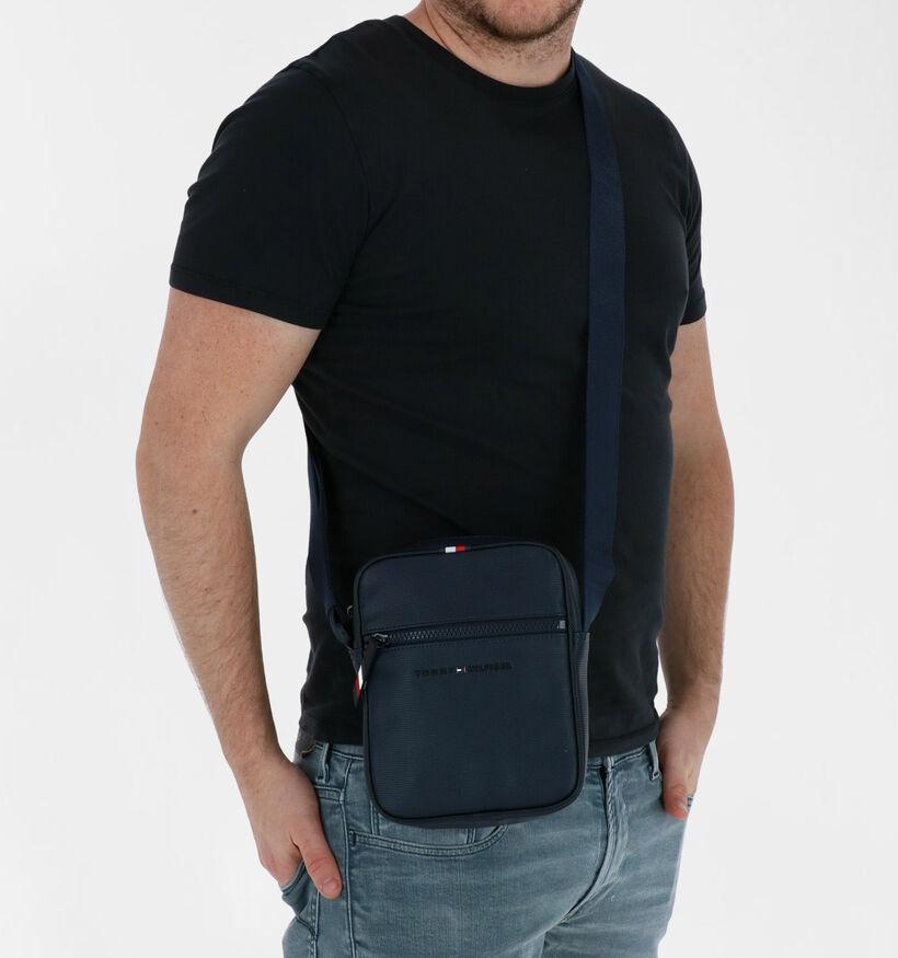 Tommy Hilfiger Essential Sac porté croisé en Bleu en simili cuir (281092)