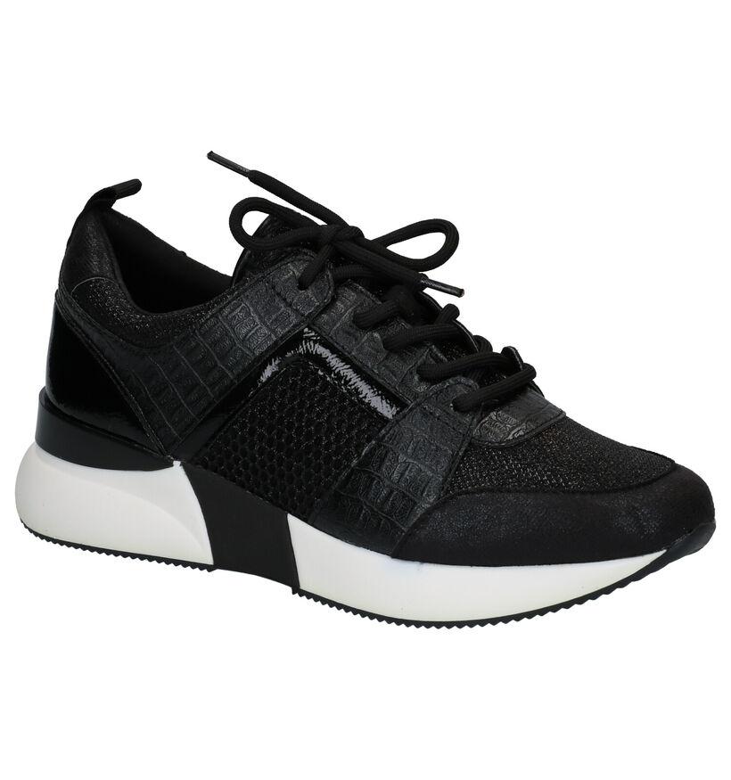 La Strada Chaussures à lacets en Noir en simili cuir (277872)