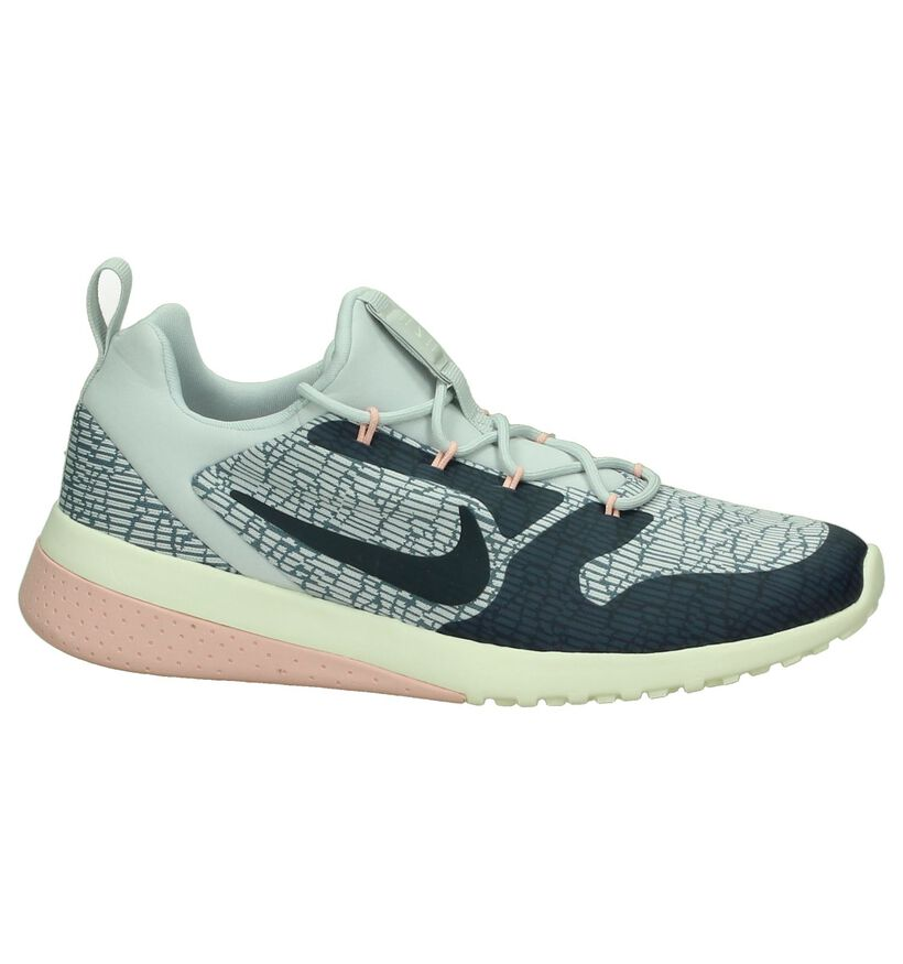 Nike Baskets basses en Gris clair en textile (200138)