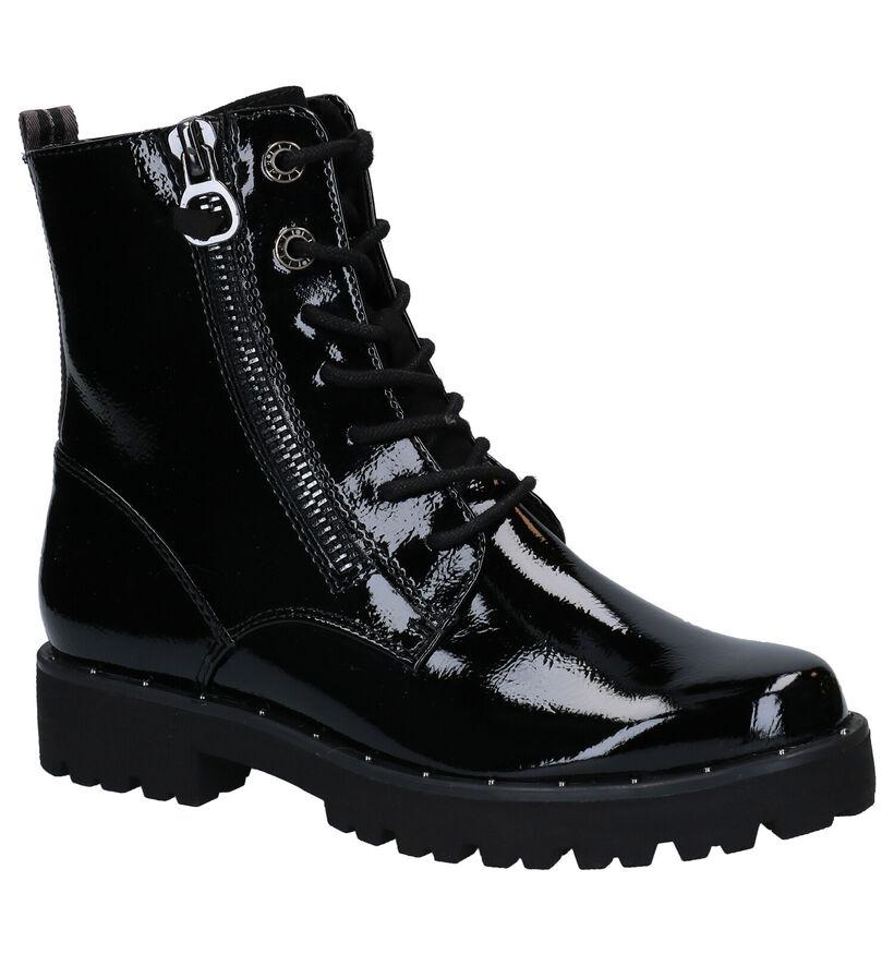 Marco Tozzi Zwarte Boots in kunstleer (280552)